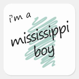 Soy un muchacho de Mississippi Pegatinas Cuadradas Personalizadas