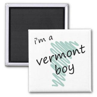 Soy un muchacho de Vermont Imán Cuadrado