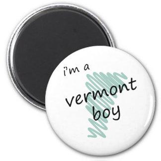 Soy un muchacho de Vermont Imán Redondo 5 Cm
