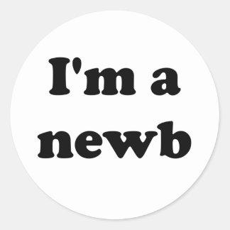 Soy un newb pegatina redonda