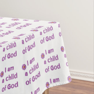 Soy un niño de dios mantel de tela