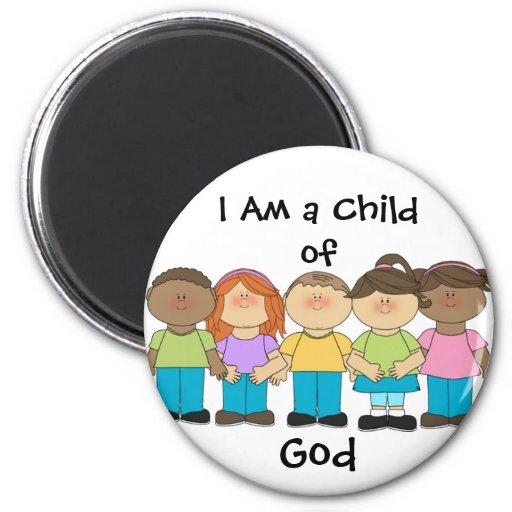 Soy un niño del imán LDS de dios primario (redondo