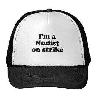 Soy un nudista en huelga gorras de camionero