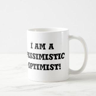 ¡Soy un optimista pesimista! Tazas De Café
