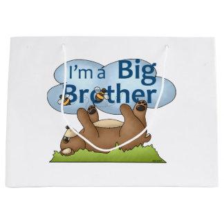 Soy un oso de hermano mayor bolsa de regalo grande