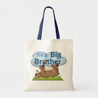 Soy un oso de hermano mayor bolsa tela barata