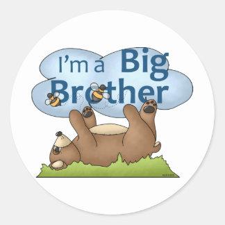 Soy un oso de hermano mayor pegatina redonda