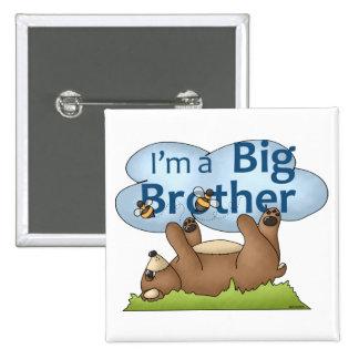 Soy un oso de hermano mayor pin cuadrado
