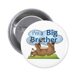Soy un oso de hermano mayor pin redondo de 2 pulgadas