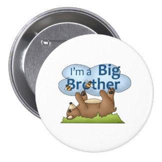 Soy un oso de hermano mayor pin redondo de 3 pulgadas