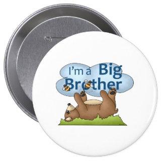 Soy un oso de hermano mayor pin redondo de 4 pulgadas