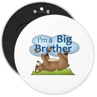 Soy un oso de hermano mayor pin redondo de 6 pulgadas