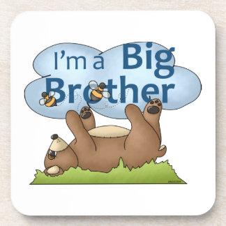 Soy un oso de hermano mayor posavasos de bebida