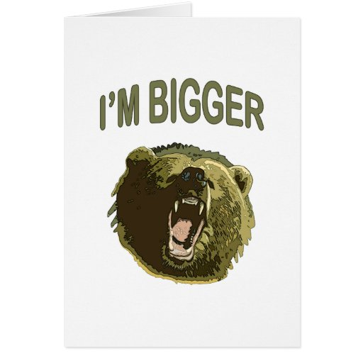 Soy un oso más grande tarjeta pequeña