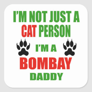 Soy un papá de Bombay Pegatina Cuadrada