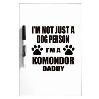 Soy un papá de Komondor Pizarras