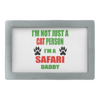 Soy un papá del safari hebilla de cinturon rectangular