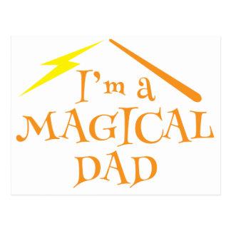¡Soy un PAPÁ MÁGICO! Con la vara de los magos Tarjetas Postales