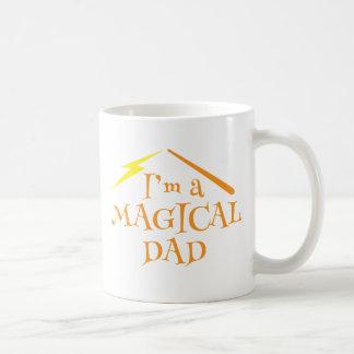 ¡Soy un PAPÁ MÁGICO! Con la vara de los magos Tazas De Café