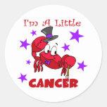 Soy un pequeño cáncer etiqueta redonda