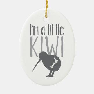 Soy un pequeño kiwi con el pájaro lindo de Nueva Adorno Ovalado De Cerámica