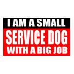 Soy un pequeño perro del servicio con un trabajo g tarjeta de negocio