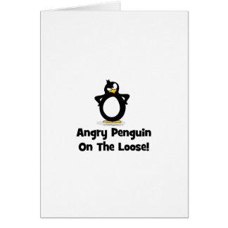Soy un pingüino atrapado dentro de este ser humano tarjeta de felicitación