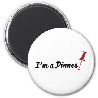 ¡Soy un Pinner! Imán Redondo 5 Cm