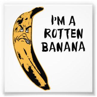 Soy un plátano putrefacto arte con fotos