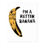 Soy un plátano putrefacto tarjetas postales