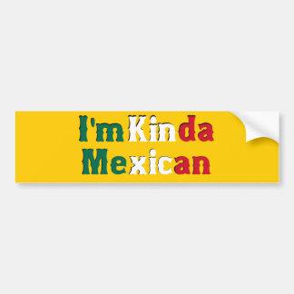 Soy un poco mexicano pegatina de parachoque