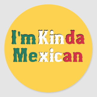 Soy un poco mexicano pegatina redonda