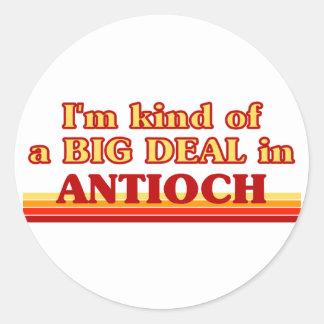 Soy un poco una GRAN COSA en Antioch Pegatina Redonda