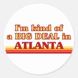 Soy un poco una GRAN COSA en Atlanta Etiquetas Redondas