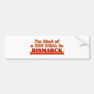 Soy un poco una GRAN COSA en Bismarck Etiqueta De Parachoque