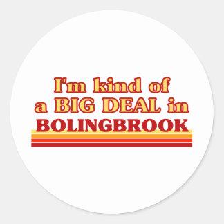 Soy un poco una GRAN COSA en Bolingbrook Pegatina Redonda