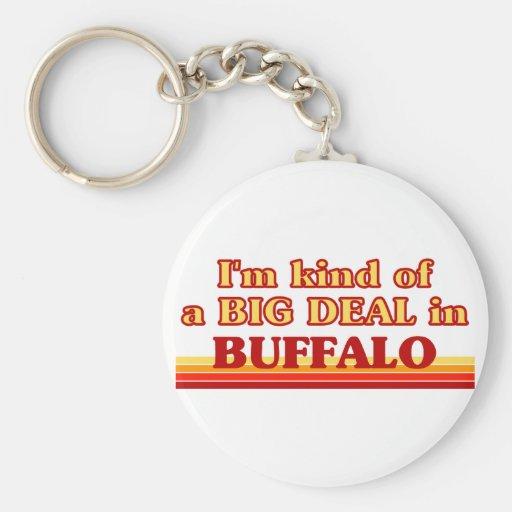 Soy un poco una GRAN COSA en búfalo Llavero