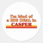 Soy un poco una GRAN COSA en Casper Pegatina Redonda