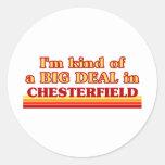 Soy un poco una GRAN COSA en Chesterfield Etiqueta Redonda