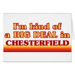Soy un poco una GRAN COSA en Chesterfield Tarjetón
