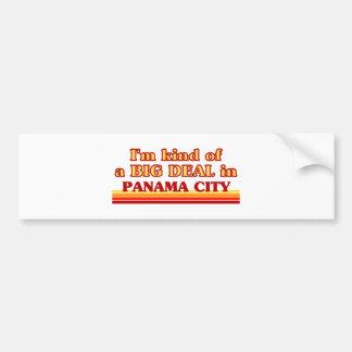 Soy un poco una GRAN COSA en ciudad de Panamá Etiqueta De Parachoque