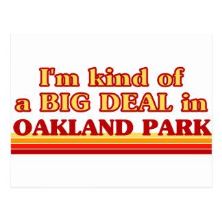 Soy un poco una GRAN COSA en el parque de Oakland Tarjeta Postal