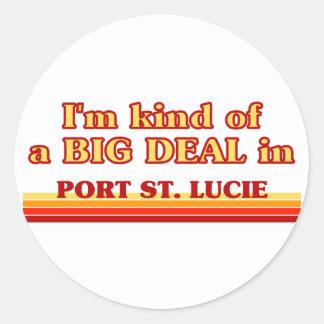 Soy un poco una GRAN COSA en el puerto Sta. Lucía Etiquetas Redondas