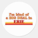 Soy un poco una GRAN COSA en Erie Pegatina Redonda