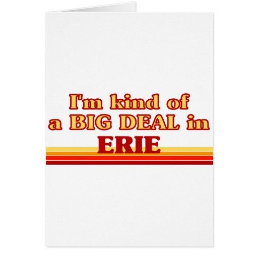 Soy un poco una GRAN COSA en Erie Tarjeta