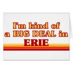 Soy un poco una GRAN COSA en Erie Tarjetón