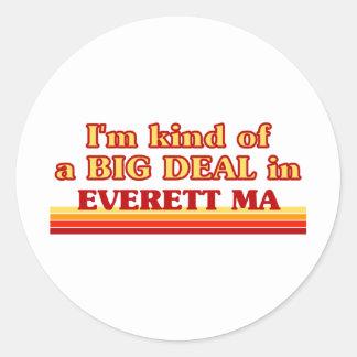 Soy un poco una GRAN COSA en Everett Etiqueta Redonda