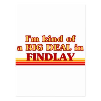 Soy un poco una GRAN COSA en Findlay Tarjeta Postal