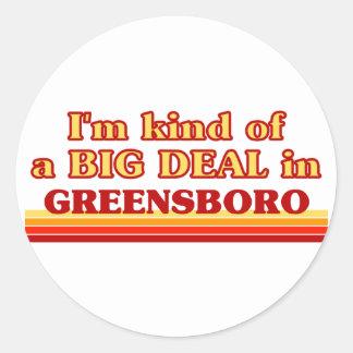 Soy un poco una GRAN COSA en Greensboro Pegatina Redonda