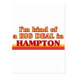 Soy un poco una GRAN COSA en Hampton Tarjeta Postal